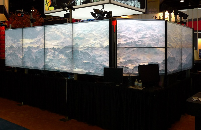 wrap around installation at SIGGRAPH 2011